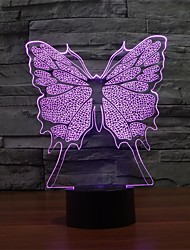 3d ночь свет модно настольная лампа водить бабочка форма романа лампа с изменением цвета свет ночи