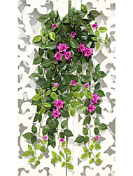 9 Branch/Bouquet High simulation Sharp Corner Rose Wall-Mounted Artificial Flower