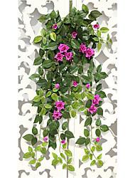1 Une succursale Soie Roses Guirlande et Fleur Murale Fleurs artificielles 90CM
