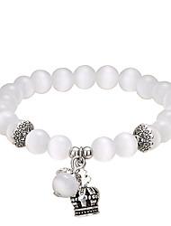 Fashionable Opal 20cm Round Strand Bracelets