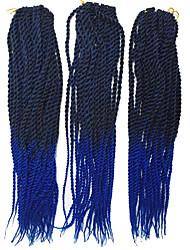 New Arrival 22 Inch Ombre Kanekalon Braiding Hair Senegalese Twist Crochet Synthetic Hair