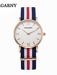 CAGARNY Thin NylonBelt Ladies Fashion Watch