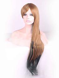 grande longueur mélange brun couleur noire vague naturelle usure quotidienne des femmes fashion perruques style cosplay