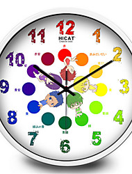 Lovely Cartoon Sunspot Basketball Silent Wall Clock