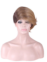 Special Bang with Hair Fashion New Design Golden Brown Short Ladies Wigs