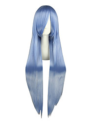 Cosplay Wigs TouHou Project Hinanawi Tenshi Blue Long Anime Cosplay Wigs 100 CM Heat Resistant Fiber Male / Female