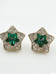 Earring Star Jewelry Women Fashion Wedding / Party / Daily / Casual / Sports Crystal / Alloy / Rhinestone 1 pair Gold