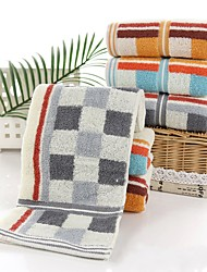 """1 Piece Full Cotton Thickening Hand Towel 29""""by 13"""" Plaid Pattern Super Soft"""
