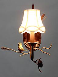 nord vintage metal amercian avec l'oiseau de résine et lampe de mur de pomme de pin convient pour le salon / salle à manger murale