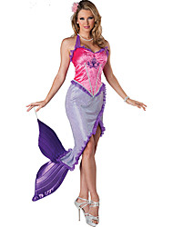 Pink + Purple Caribbean Mermaid Princess Cosplay  Clothing Masquerade Party Dress
