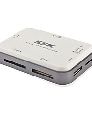 SSK USB 3.0 Multifunctional SD / MS / CF / XD / TF / M2 Card Reader, Compact Flash Card Reader SCRM056