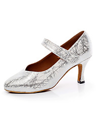 Women's Dance Shoes Leatherette Leatherette Latin / Salsa Sandals Chunky Heel Professional / Indoor
