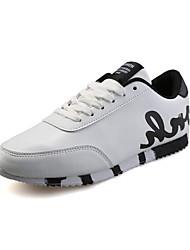 Herren-Flache Schuhe-Sportlich-PU-Flacher AbsatzSchwarz Rot Weiß