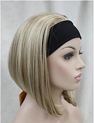 New Fashion 3/4 Wig With Headband Women's Short Straight Synthetic Half Wig