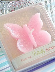 Recipient Gifts - 1Box/Set, Pink Butterfly Floating Candle Wedding Favors