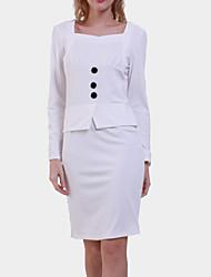 Women's Vintage Sweatheart Neck Sheath Knee Length Dress