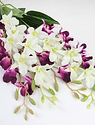 1pc/set 1 Ramo Seda Orquideas Flor de Mesa Flores artificiais Total Length:26.8""