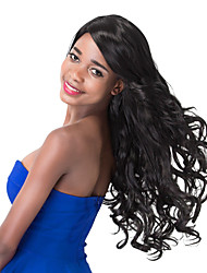 European Vogue Long Sythetic Side Bang Curly Party Wig For Women