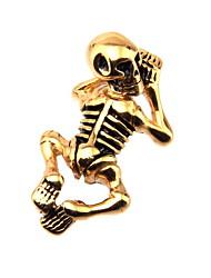 316L Stainless Steel Skeleton Gold Pendant