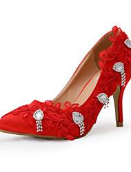 FemininoSaltos-Salto Agulha-Vermelho-Seda-Casamento / Social / Festas & Noite