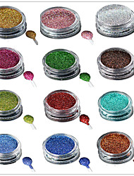 1 Bottle Nail Art Laser Colorful Glitter Shining Powder Manicure Makeup Decoration Nail Beauty L1-16 Random Delivery
