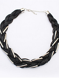 Stylish Atmosphere Braided Necklace Necklace Wild