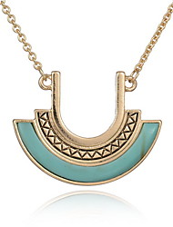 Necklace Pendant Necklaces Jewelry Daily / Casual Double-layer / Fashion Alloy / Gem Gold 1pc Gift