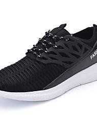 Homme-Décontracté-Noir / Blanc / Gris-Talon Plat-Bout Arrondi-Sneakers-Tulle / Polyuréthane