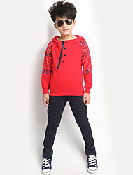 Boy's  Cotton Spring/Autumn Sport Suit Set Long Sleeve Sets Children Hoodies And Pants Two-Piece Set