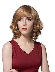 Elegant Fluffy Short Human Hair For Women Layered Trendy European Style Wigs