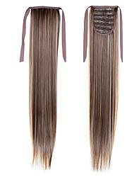 longue ligne droite queue 22inch 55cm 100g # 8/613 couleur mélangée cordon synthétique l'extension ponytails de queue de cheval de cheveux
