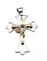 Women's Pendant Necklaces Pendants Stainless Steel Gold Plated Cross Fashion Silver Jewelry Daily Casual 1pc