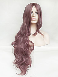 Purple Smoke Cosplay Wig 1CM Long Hair High Temperature Wire