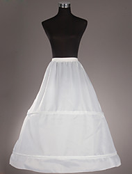 Slips Ball Gown Slip Tea-Length 1 Taffeta White