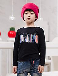 Boy's Cotton Spring/Fall Fashion Printing Long-sleeved  T-shirt