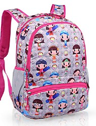 Women Nylon Casual Backpack Pink / Gray / Fuchsia