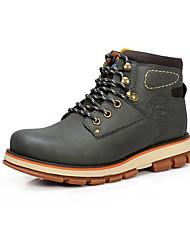 Serene® Men's Suede Boots Dark Green-3128