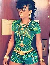 Women's Green Jumpsuits,Sexy Short Sleeve