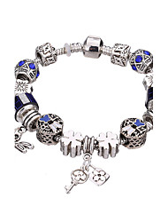 Antique Silver Plated Dragonfly Pendant Beads Strands Bracelet #YMGP1014