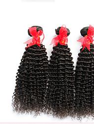 """3 Stück lot 12 """"-30"""" unverarbeitete brasilianische verworrene lockige reine Haareinschlagfäden natürliche schwarze 1b # raw remy"""