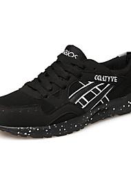 sapatos masculinos pu sapatilhas da forma ocasional andando outros salto planas azul / vermelho / cinza