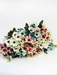 "9.85"" European Style Artificial Silk Chrysanthemum Flower Daisies Flower Bouquet Decoration Ornament Decorations 1pc/set"