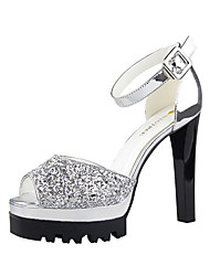 Women's Sandals Summer Sandals Glitter Casual Chunky Heel Others Black / Pink / White / Silver / Gold Others