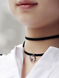 Gothic Style Black Fabric Lace Choker Necklace Jewelry