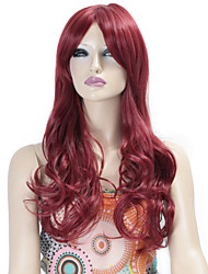 Synthetic Wigs Long Curly Wave Synthetic Hair Fuxia Color Wigs For Women Cosplay Christmas Wig