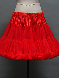 Slips Ball Gown Slip Short-Length 2 Tulle Netting / Acrylic Tutu Petticoats White / Black / Red