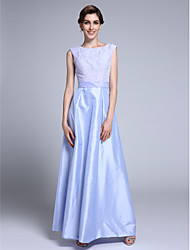 Lanting Bride® Sheath / Column Mother of the Bride Dress Ankle-length Sleeveless Lace / Taffeta with Lace