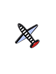 Fashion Women Cute Aircraft Pin Brooch