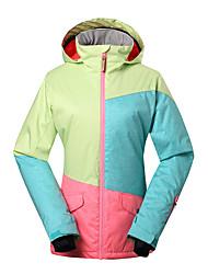 Gsou SNOW® Skikleidung Ski/Snowboard Jacken Damen Winterkleidung Polyester Kleidung für den WinterWasserdicht / Atmungsaktiv / warm