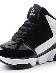 Men's Sneakers Rubber Athletic Low Heel Lace-up Blue / Orange / Black and White Basketball
